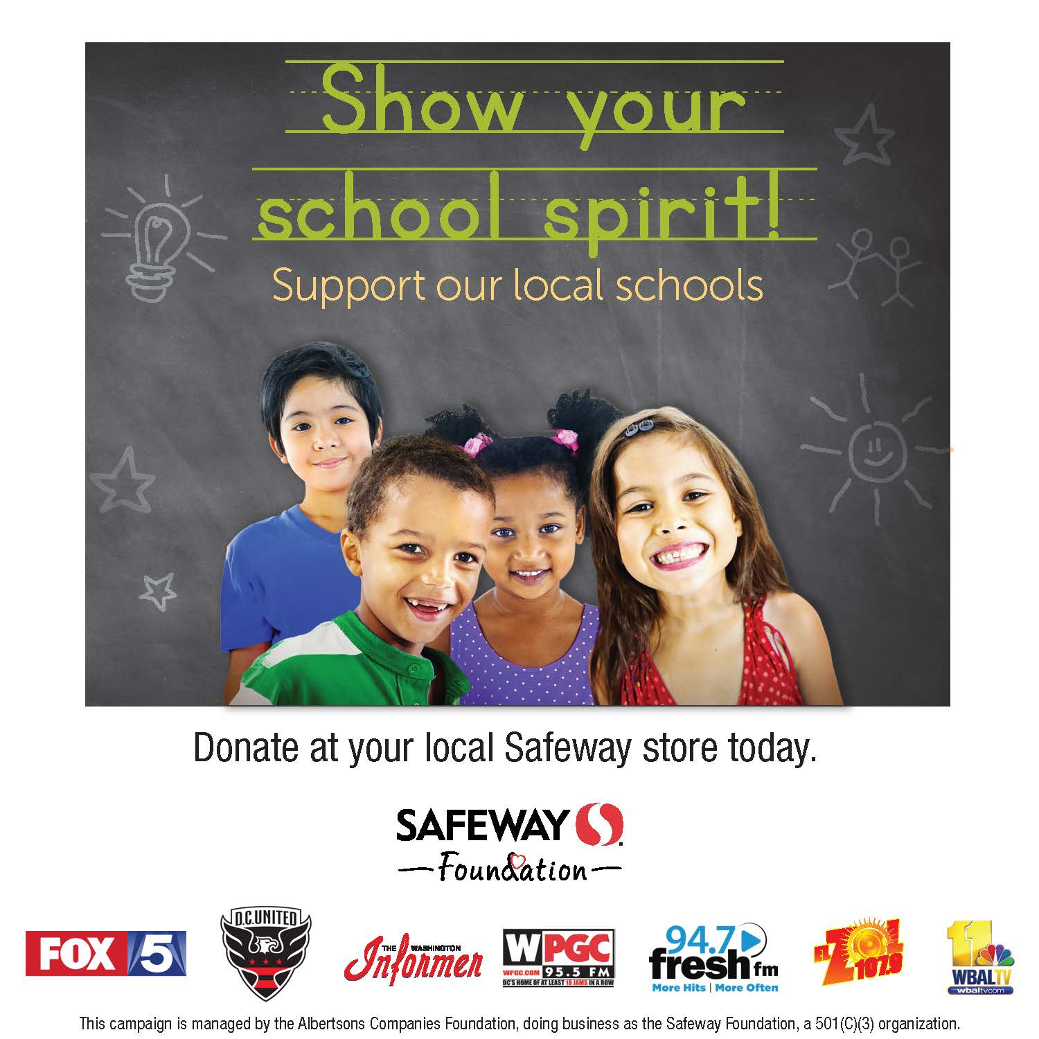 fundraiser at Safeway flyer