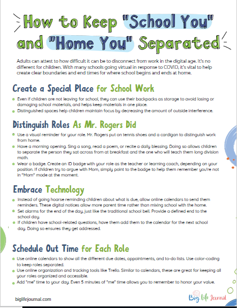 "How to keep ""Home You"" and ""School You"" Separated"