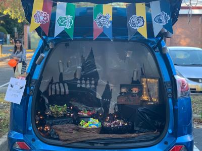 Harry Potter themed trunk.